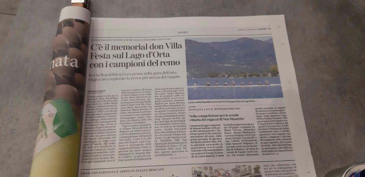 Orta Lake Challenge su La Stampa